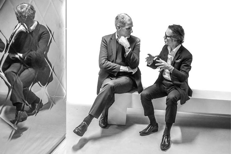 Peter Milton Walsh et Robert Forster après le concert à la Gaité Lyrique 23/09/2015 © Vincent Briffaut