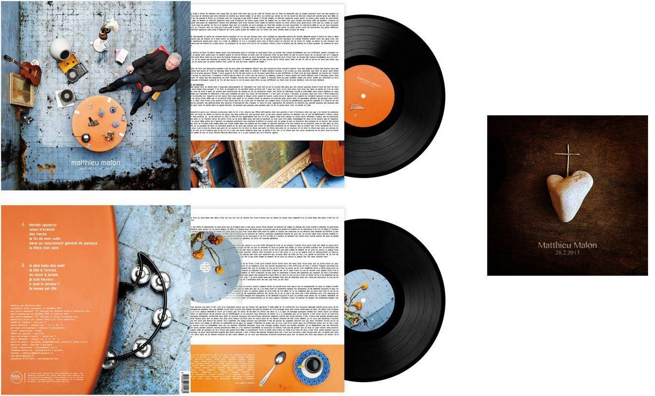 """Photographies/Artwork de l'album """"Peut-être un jour"""" de Matthieu Malon + single """"28.02.2013 """""""